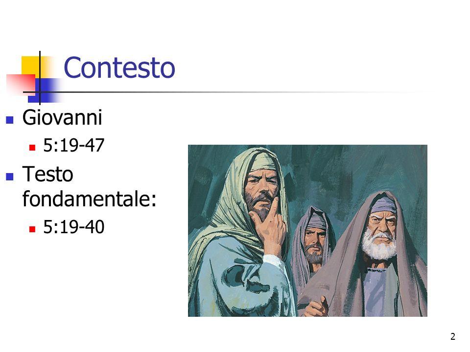 13 Cristo ha reso testimonianza da se stesso (5:30).