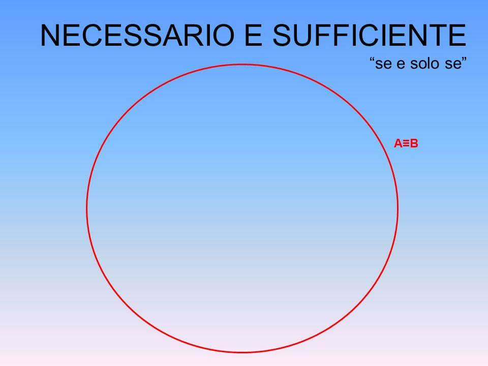 """A≡B NECESSARIO E SUFFICIENTE """"se e solo se"""""""