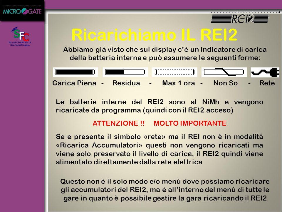 Accendiamo IL REI2 Questo è il menù che appare dopo la sincronizzazione E scegliendo «Altro» in cascata appare questo menù E scegliendo «Esci» in casc