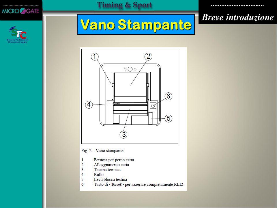 ............................... Breve introduzione Vano Stampante VANOSTAMPANTE
