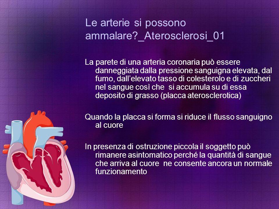 Le arterie si possono ammalare?_Aterosclerosi_01 La parete di una arteria coronaria può essere danneggiata dalla pressione sanguigna elevata, dal fumo