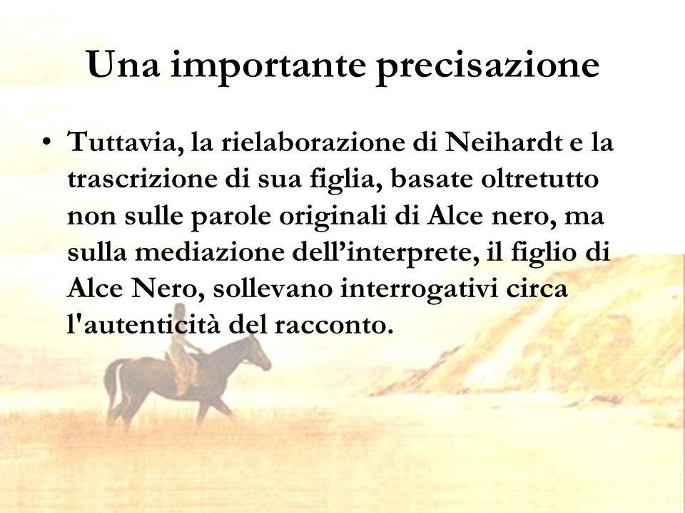 Struttura Alce Nero Parla è diviso in 25 capitoli, che raffigurano la vita di Alce Nero.