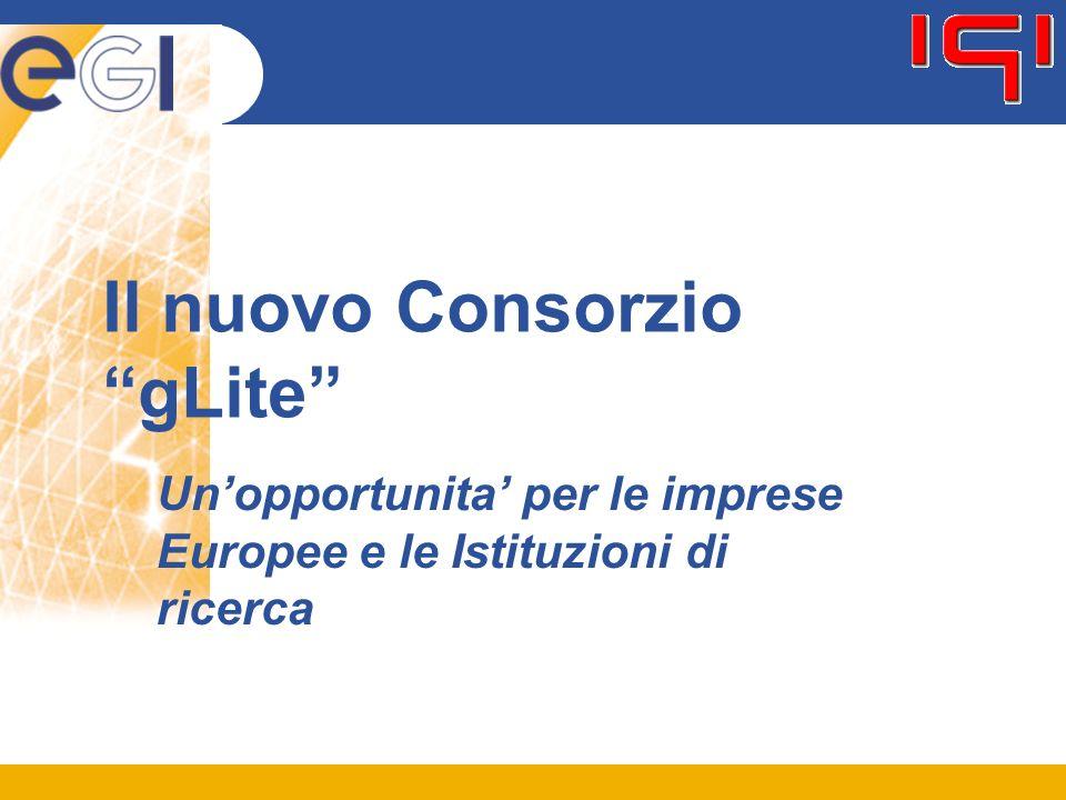 Il nuovo Consorzio gLite Un'opportunita' per le imprese Europee e le Istituzioni di ricerca
