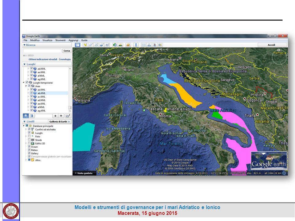 Modelli e strumenti di governance per i mari Adriatico e Ionico Macerata, 15 giugno 2015