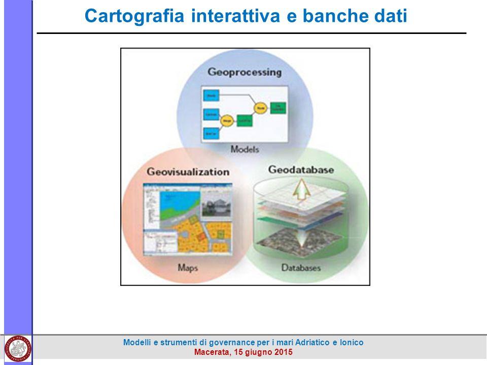 Modelli e strumenti di governance per i mari Adriatico e Ionico Macerata, 15 giugno 2015 Cartografia interattiva e banche dati