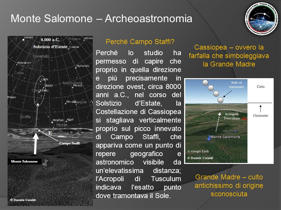 Monte Salomone – Archeoastronomia Perché Campo Staffi? Perché lo studio ha permesso di capire che proprio in quella direzione e più precisamente in di