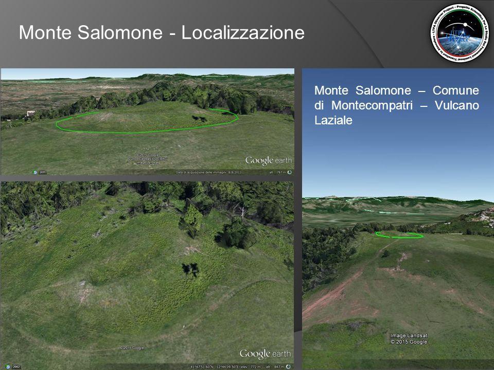 Monte Salomone - Localizzazione Monte Salomone è un'altura situata all'interno del comune di Montecompatri.