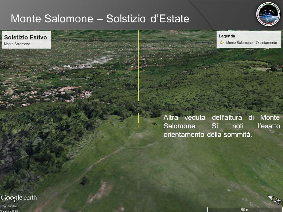 Monte Salomone – Solstizio d'Estate Altra veduta dell'altura di Monte Salomone. Si noti l'esatto orientamento della sommità.
