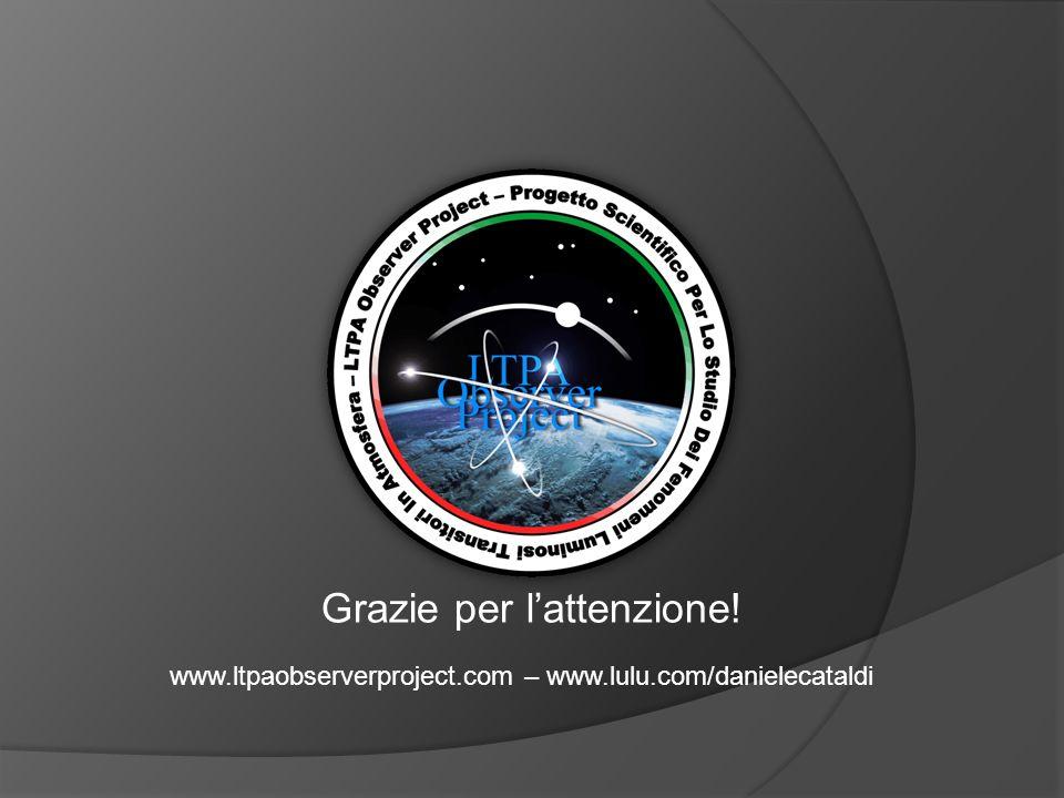 Grazie per l'attenzione! www.ltpaobserverproject.com – www.lulu.com/danielecataldi