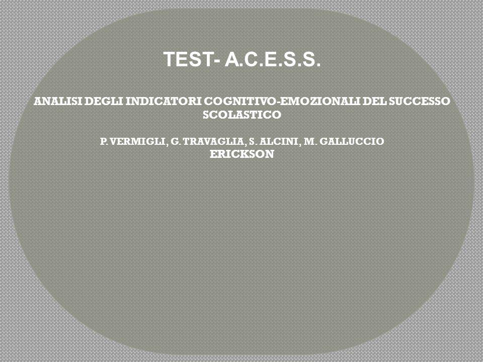 OBIETTIVI DEL TEST L'A.C.E.S.S.