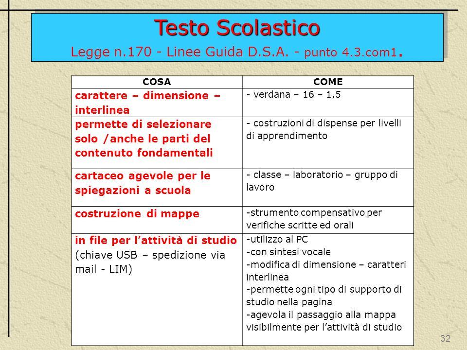 31 Testo Scolastico Legge n.170 - Linee Guida D.S.A.