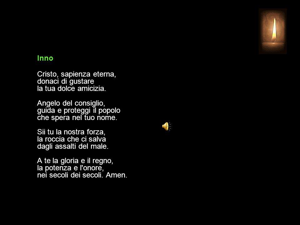 19 AGOSTO 2015 MERCOLEDÌ - XX SETTIMANA DEL TEMPO ORDINARIO UFFICIO DELLE LETTURE INVITATORIO V. Signore, apri le mie labbra R. e la mia bocca proclam