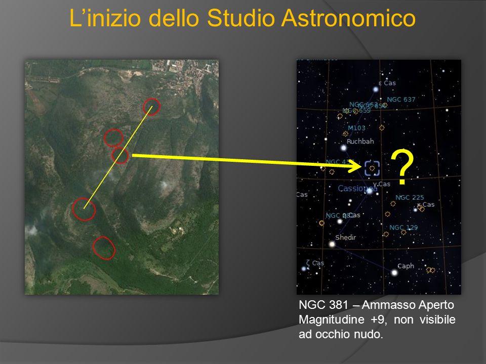 L'inizio dello Studio Astronomico NGC 381 – Ammasso Aperto Magnitudine +9, non visibile ad occhio nudo. ?