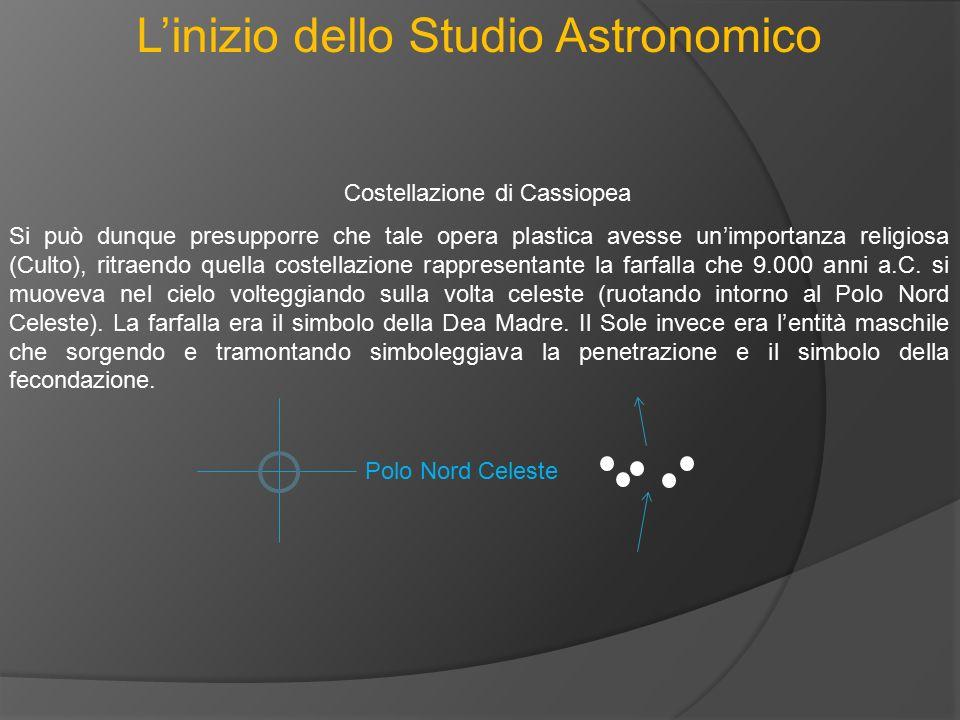L'inizio dello Studio Astronomico Costellazione di Cassiopea Si può dunque presupporre che tale opera plastica avesse un'importanza religiosa (Culto),