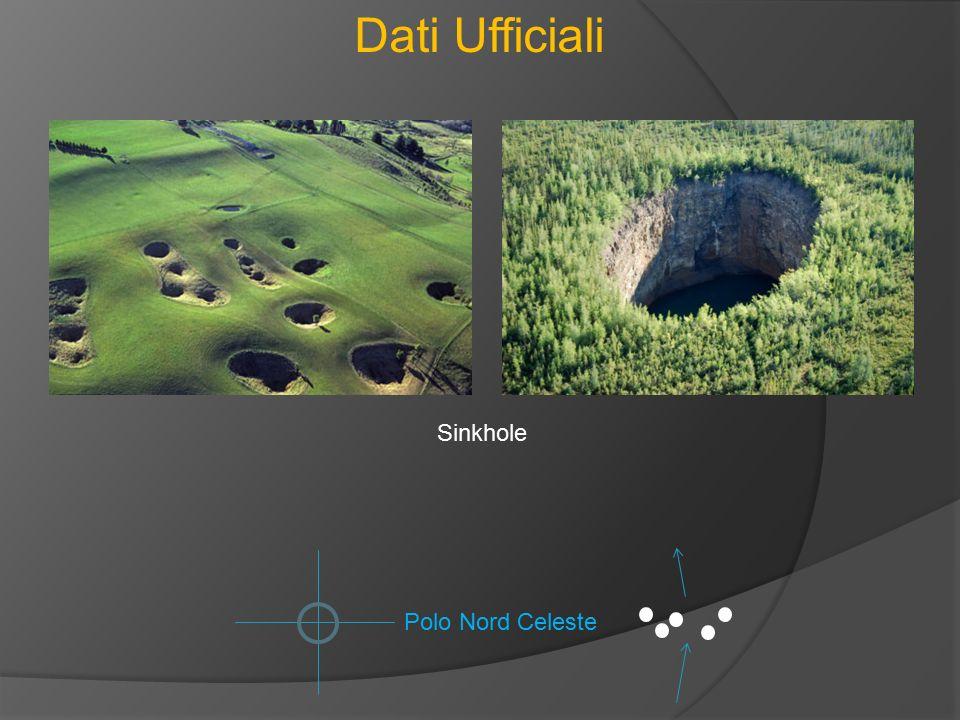Dati Ufficiali Polo Nord Celeste Sinkhole