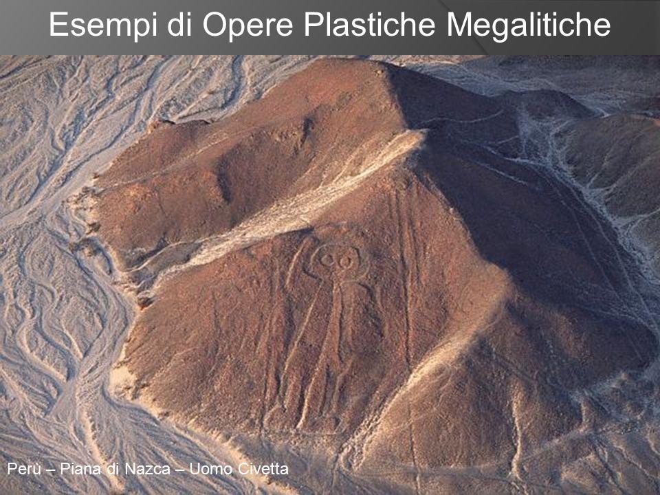 Esempi di Opere Plastiche Megalitiche Perù – Piana di Nazca – Uomo Civetta