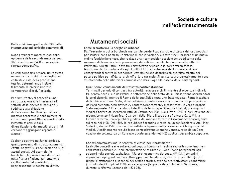 Società e cultura nell'età rinascimentale L'intellettuale umanista Chi è l'umanista.