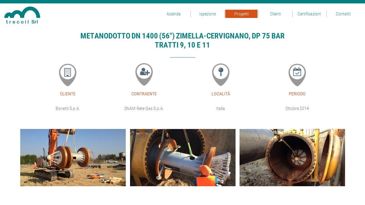 Bonatti S.p.A.SNAM Rete Gas S.p.A.Italia CLIENTECONTRAENTELOCALITÀ Ottobre 2014 PERIODO METANODOTTO DN 1400 (56