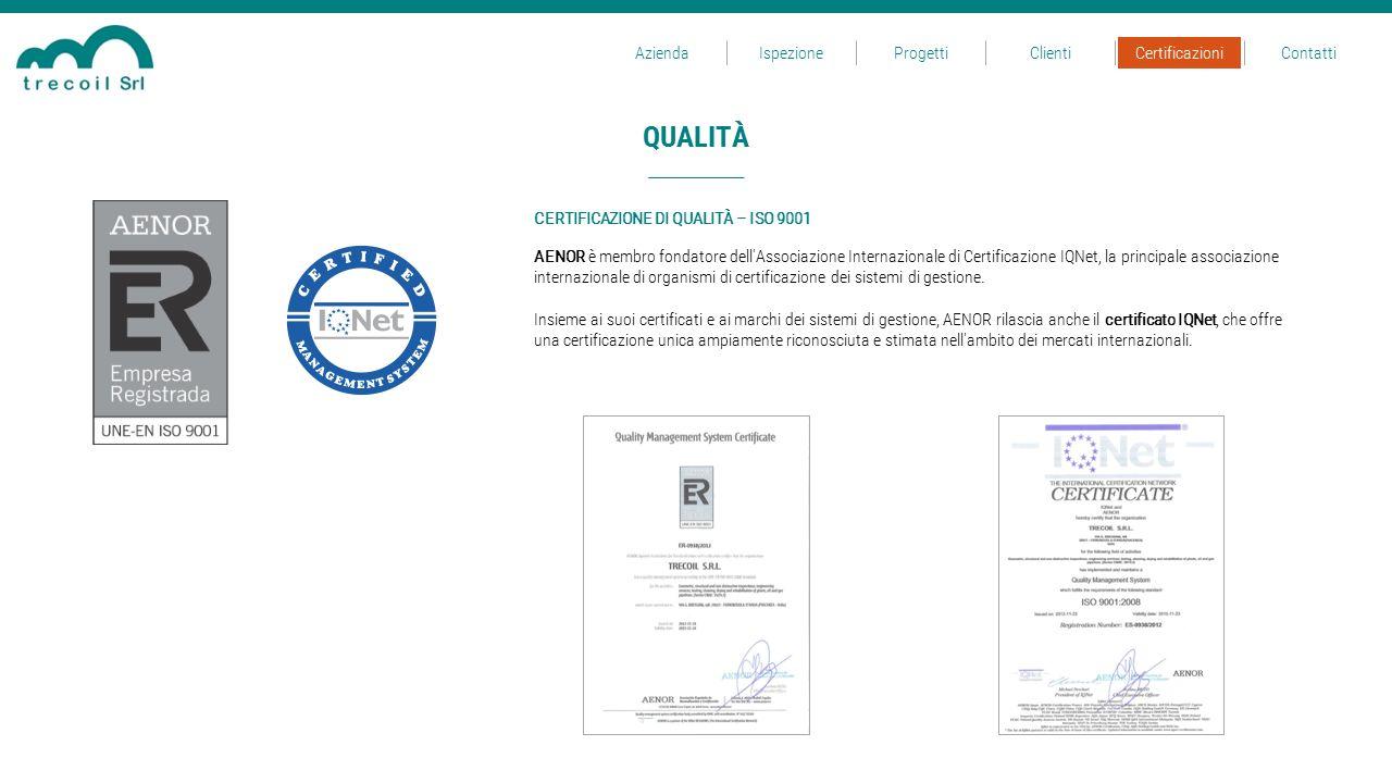 QUALITÀ AENOR è membro fondatore dell'Associazione Internazionale di Certificazione IQNet, la principale associazione internazionale di organismi di c