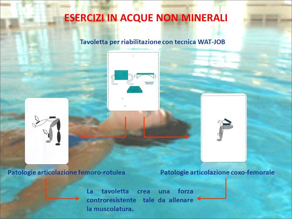 ESERCIZI IN ACQUE NON MINERALI Tavoletta per riabilitazione con tecnica WAT-JOB Patologie articolazione coxo-femoralePatologie articolazione femoro-ro