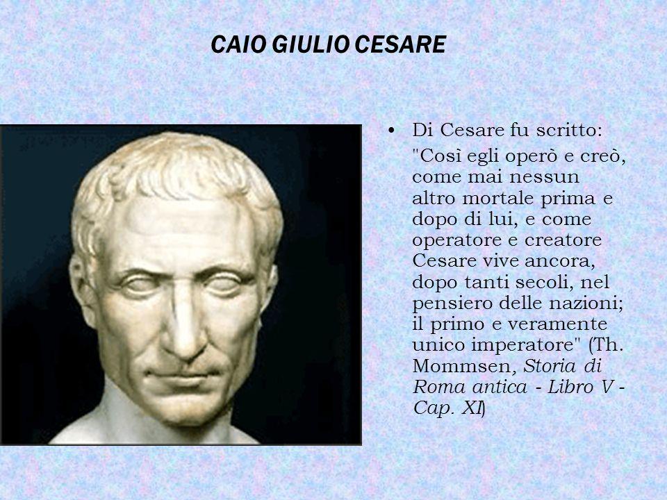 IL GOVERNO DI CESARE imperator padre della patriadittatore a vita Assunto il titolo di imperator (generale vittorioso) e di padre della patria, Cesare si fece nominare dittatore a vita.