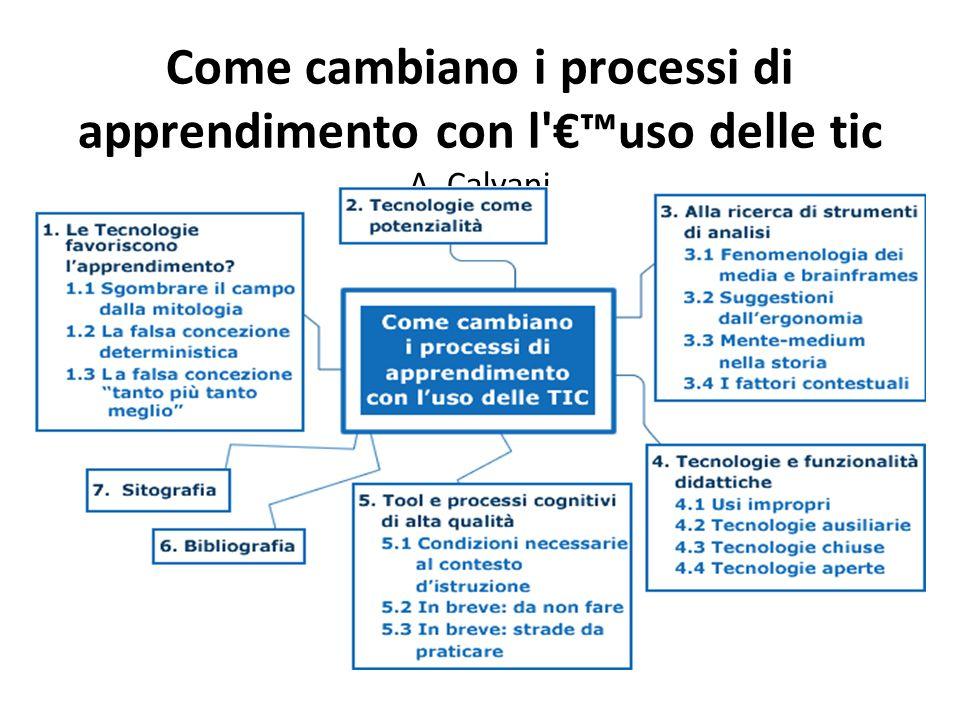 Come cambiano i processi di apprendimento con l'€™uso delle tic A. Calvani