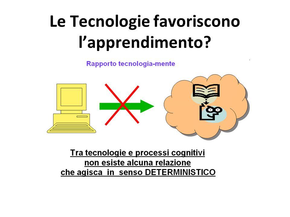 Le Tecnologie favoriscono l'apprendimento?