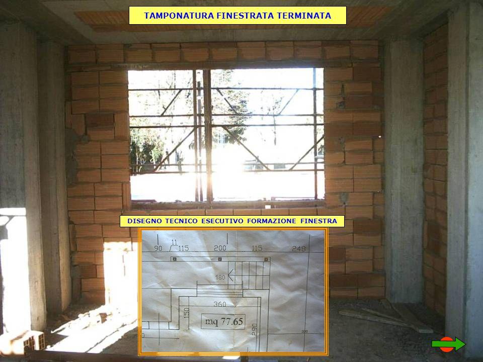 180 DISEGNO TECNICO ESECUTIVO FORMAZIONE FINESTRA TAMPONATURA FINESTRATA TERMINATA