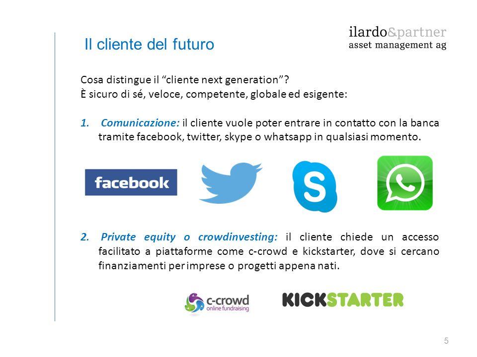 6 Il cliente del futuro 3.Tools: ci sono numerosi programmi di consultazione che generano un valore aggiunto per i clienti.