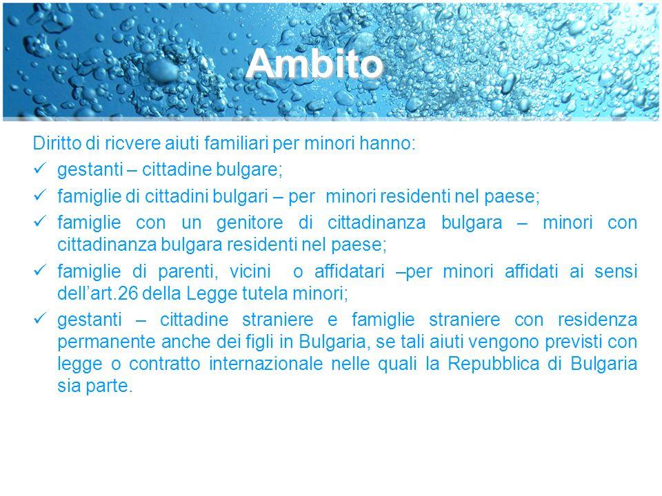 TIPI DI AIUTI FAMILIARI PER MINORI(1) 1.bonus economico una tantum alla nascita del bimbo 2.