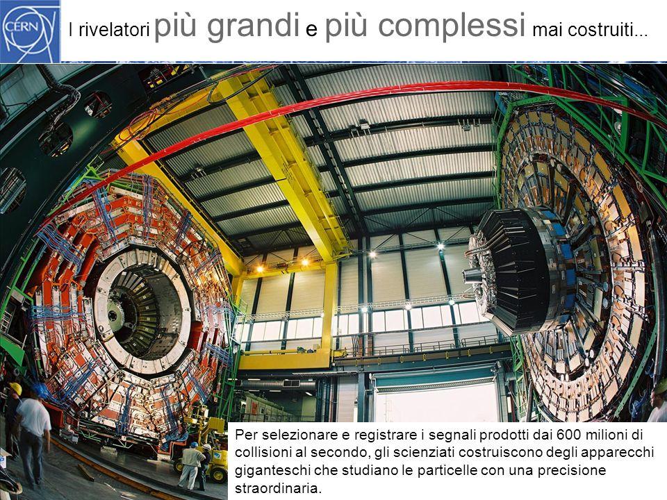 Methodology I rivelatori più grandi e più complessi mai costruiti...