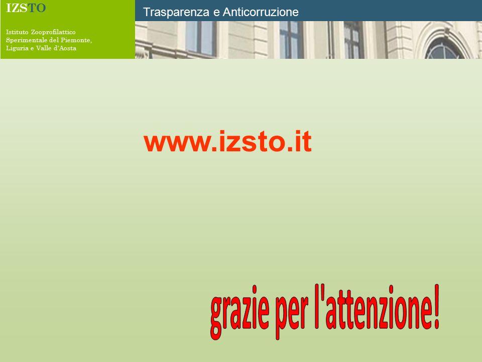IZSTO Istituto Zooprofilattico Sperimentale del Piemonte, Liguria e Valle d'Aosta Trasparenza e Anticorruzione www.izsto.it