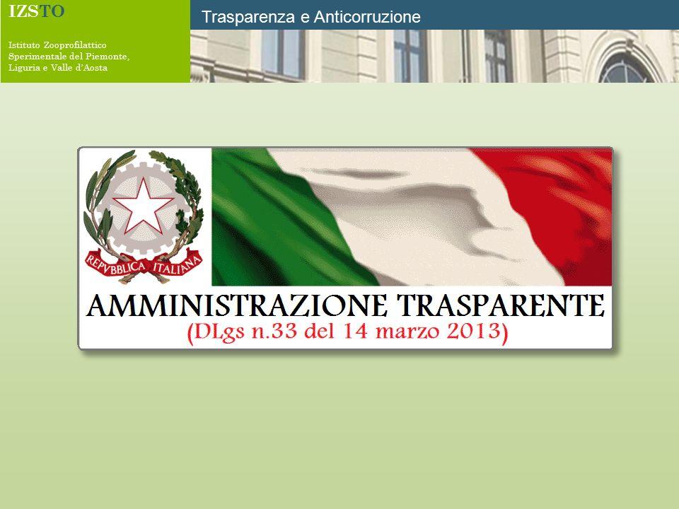 IZSTO Istituto Zooprofilattico Sperimentale del Piemonte, Liguria e Valle d'Aosta Trasparenza e Anticorruzione
