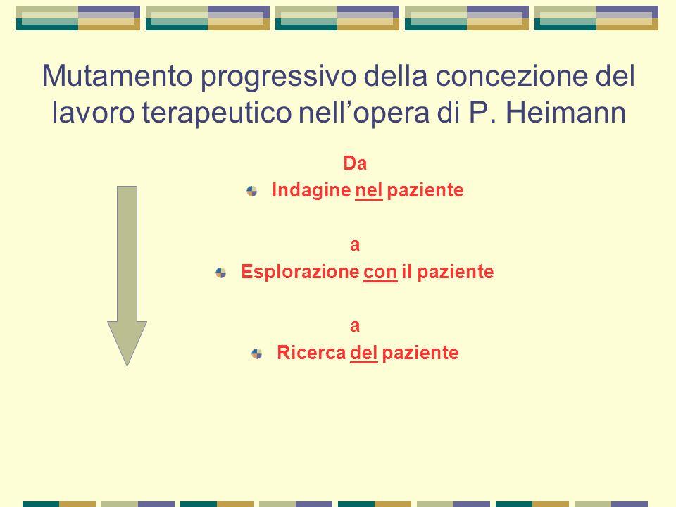 Mutamento progressivo della concezione del lavoro terapeutico nell'opera di P.