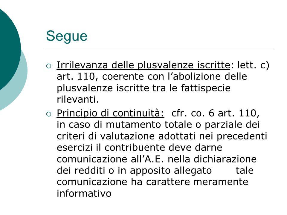 segue Co.8 art. 110: corrispondentemente l'A.F.