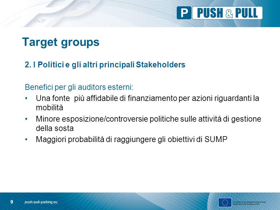 push-pull-parking.eu 10 Target groups 3.