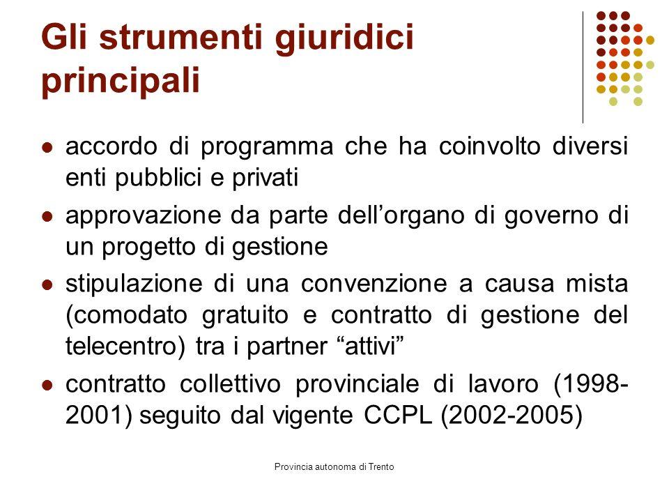 Provincia autonoma di Trento L'accordo di programma l'art.