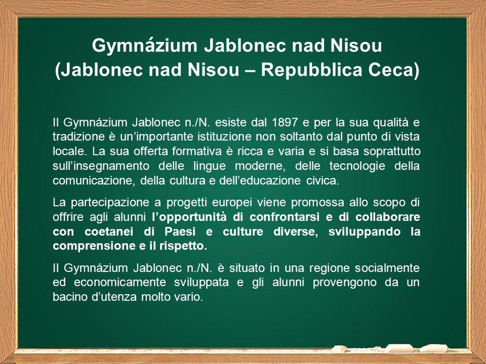 Gymn á zium Jablonec nad Nisou (Jablonec nad Nisou – Repubblica Ceca) Il Gymnázium Jablonec n./N.