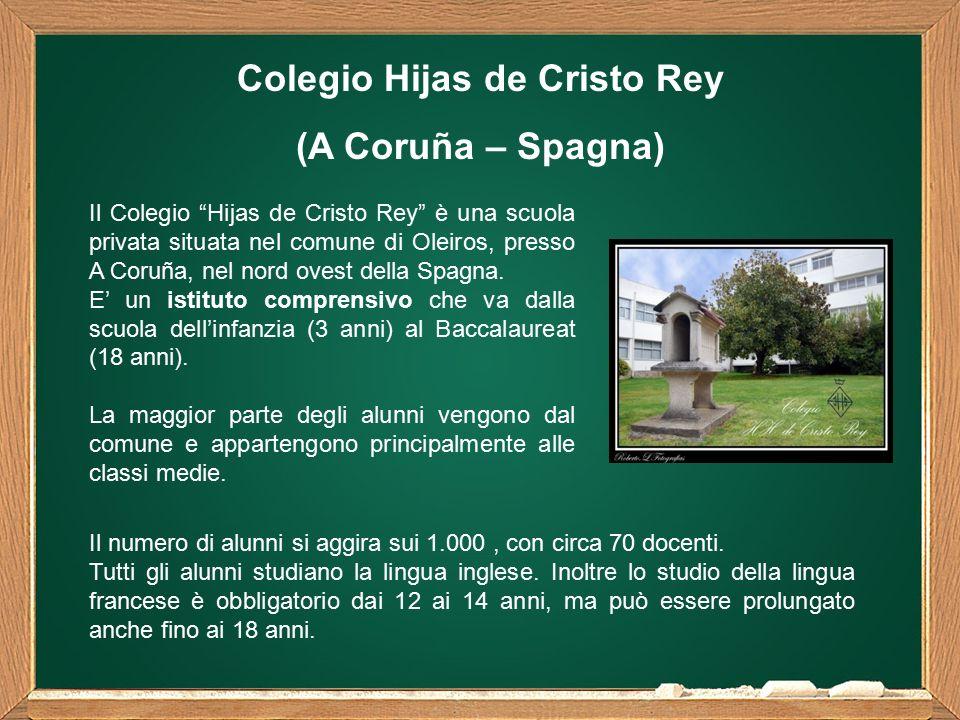 Il Colegio Hijas de Cristo Rey è una scuola privata situata nel comune di Oleiros, presso A Coruña, nel nord ovest della Spagna.