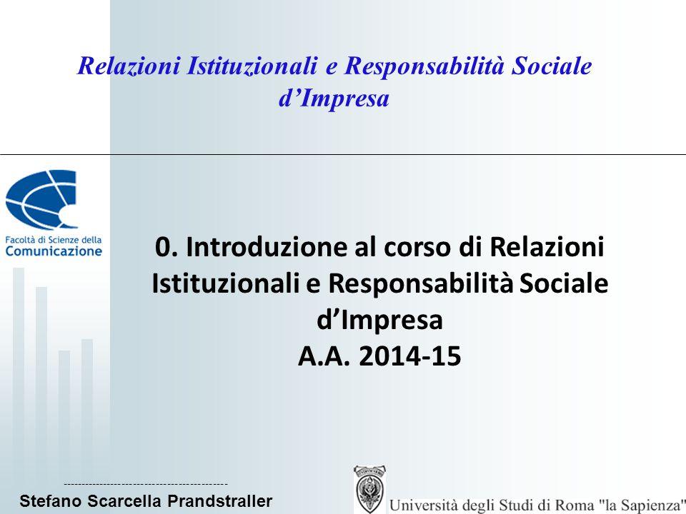 Relazioni Istituzionali e Responsabilità Sociale d'Impresa 0.