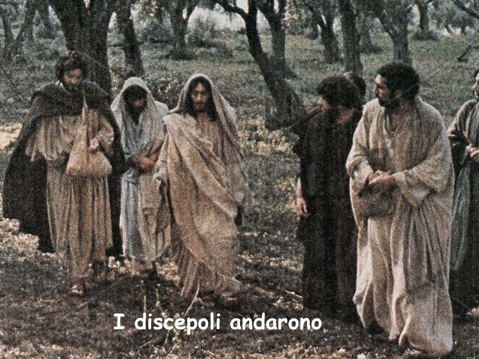 I discepoli andarono