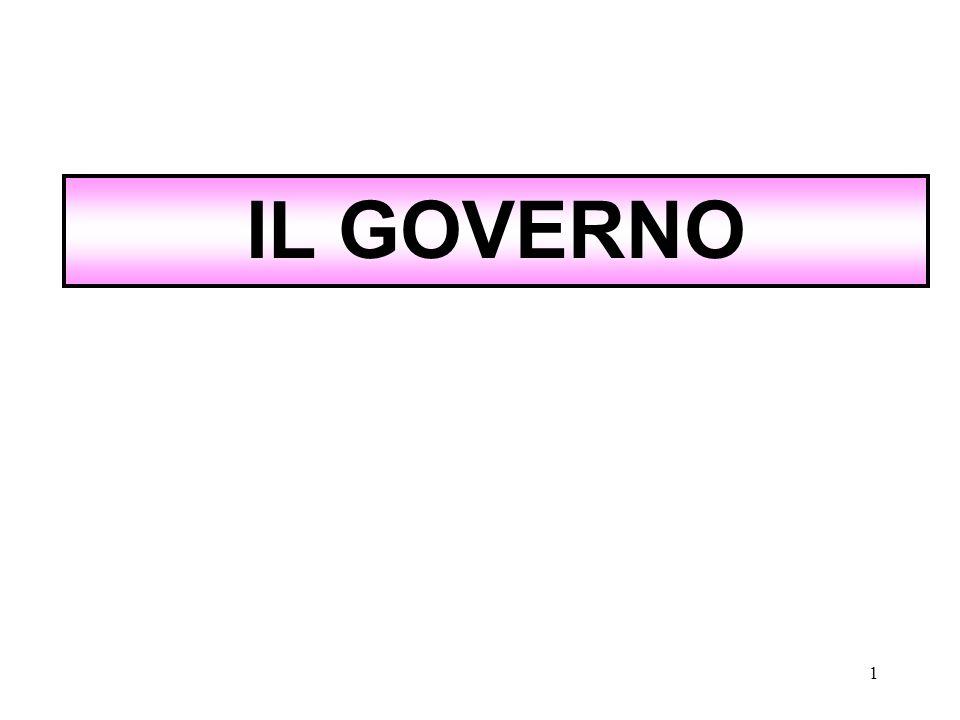 1 IL GOVERNO