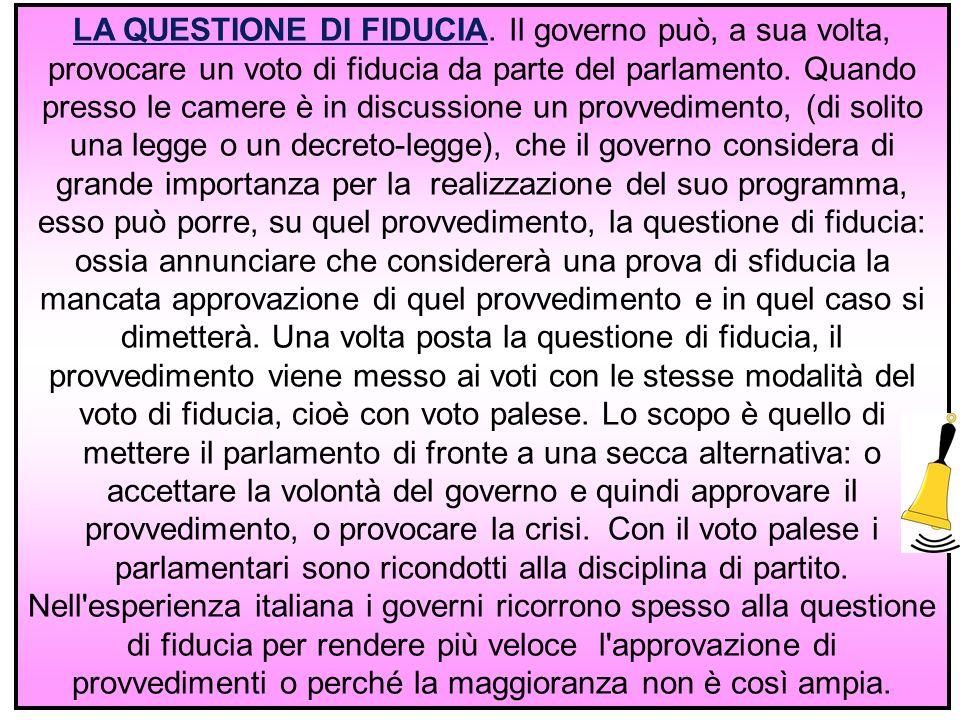 13 LA QUESTIONE DI FIDUCIA.