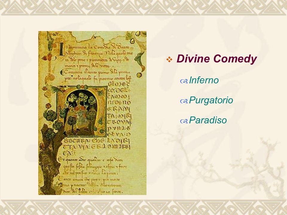  Divine Comedy  Inferno  Purgatorio  Paradiso