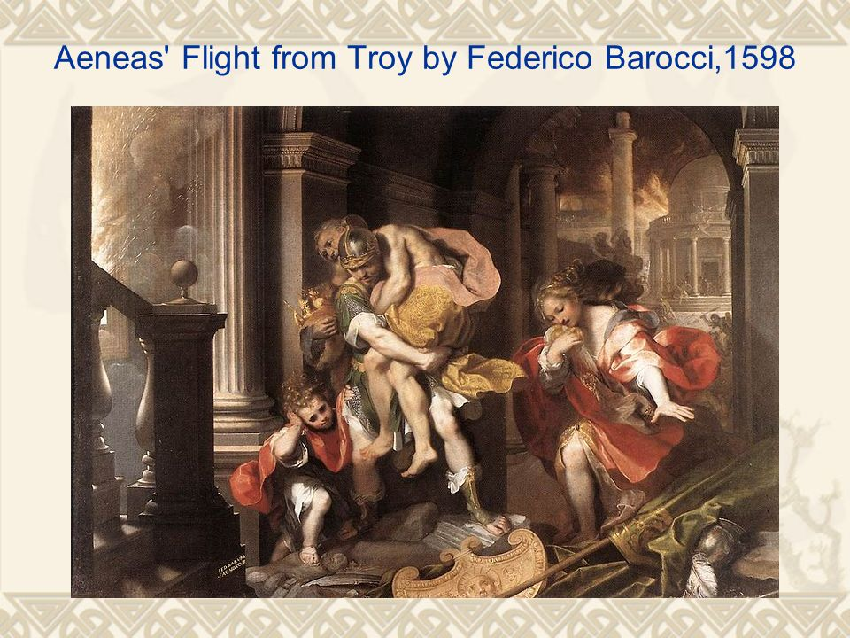 Aeneas' Flight from Troy by Federico Barocci,1598