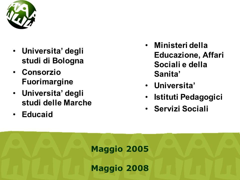 Universita' degli studi di Bologna Consorzio Fuorimargine Universita' degli studi delle Marche Educaid Ministeri della Educazione, Affari Sociali e de