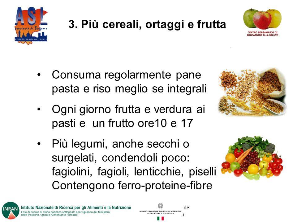 Progetto promosso dalla Direzione Sanitaria dell ASL di Bergamo 3.