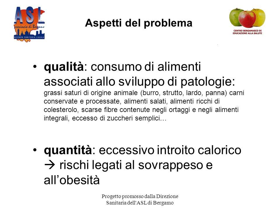 Progetto promosso dalla Direzione Sanitaria dell ASL di Bergamo Sostanze ad azione protettiva sono contenute nella frutta e verdura