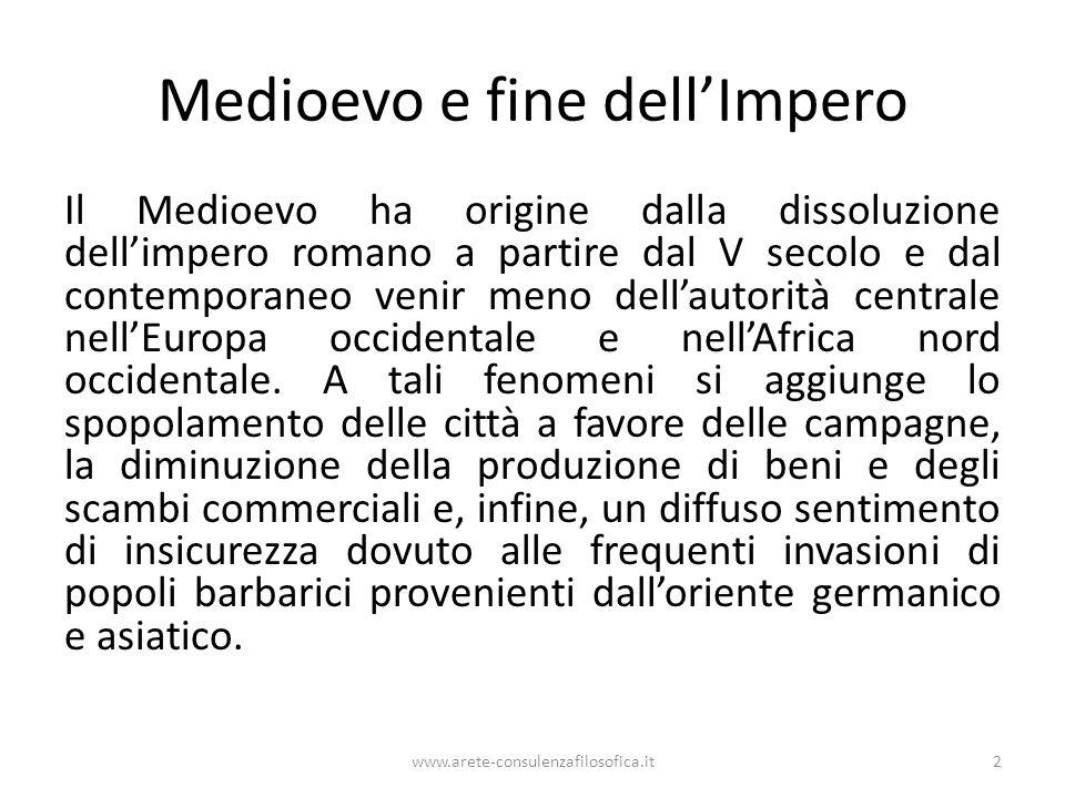 Alto Medioevo Il periodo medievale può essere suddiviso in tre epoche: l'Alto Medioevo (secc.