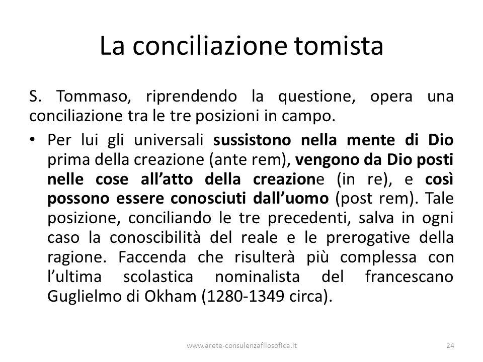 La conciliazione tomista S.